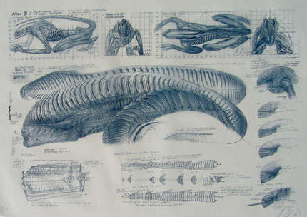Alien III lithograph by Giger