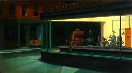 Hopper Artist Bar Painting