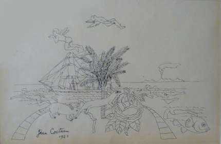 Jean Cocteau: Original Drawing