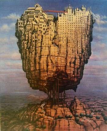Jacek Yerka COWAN CITY fine art poster