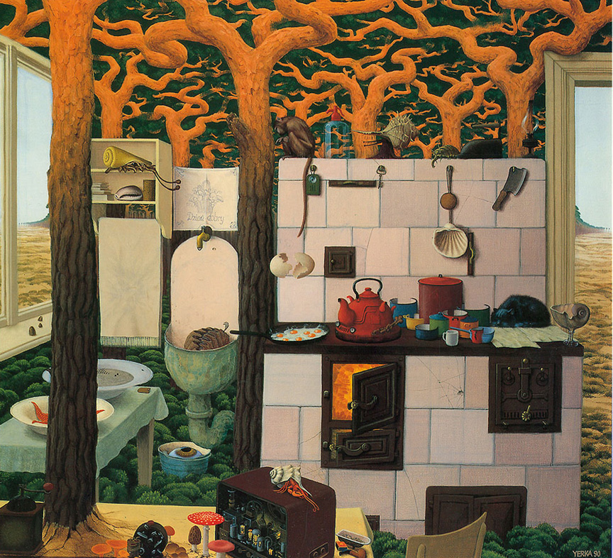 YERKA Granny's Kitchen Morpheus Surreal Art