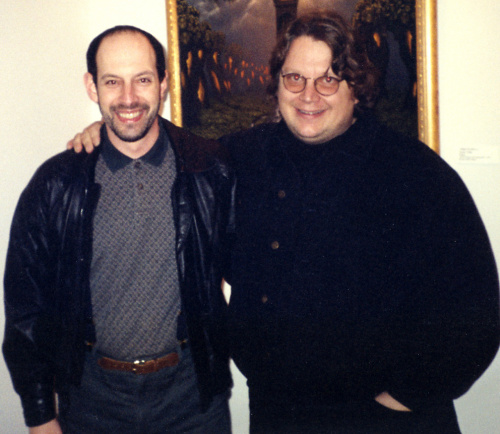 James Cowan and Guillermo del Toro at Morpheus Gallery