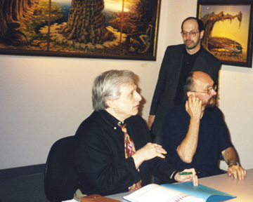 Harlan Ellison, Jacek Yerka, and James Cowan at Morpheus Gallery