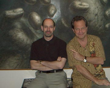 James Cowan and Terry Gilliam at Morpheus Gallery