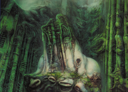 Giger Lord of the Rings painting
