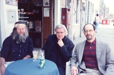 Bruno Weber, H.R. Giger, and James Cowan  of Morpheus Fine Art