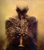 The Horn Player by Zdzislaw Beksinski